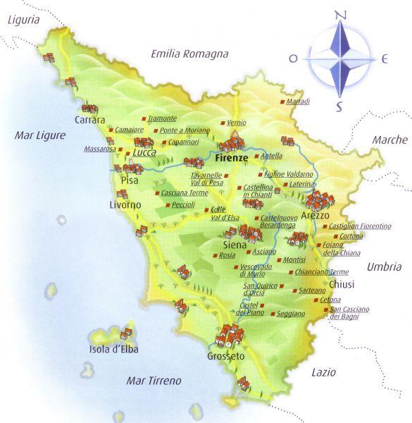 Kurzinformationen Zur Toskana Der Beliebten Urlaubsregion